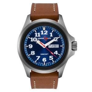 [アーマーライト]Armourlite 腕時計 Officer Series Watch Blue Dial Brown Leather Band AL823 [並行輸入品]