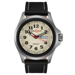 [アーマーライト]Armourlite 腕時計 Officer Series Stainless Steel Watch Black Leather Band AL825 [並行輸入品]
