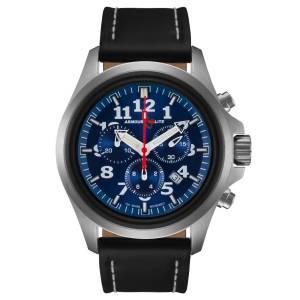 [アーマーライト]Armourlite 腕時計 Officer Series Chrono Blue Dial Watch Leather Band AL804 [並行輸入品]