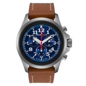 [アーマーライト]Armourlite 腕時計 Officer Series Chrono Blue Dial Watch Brown Leather Band AL834 [並行輸入品]
