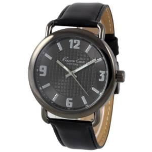 [ケネスコール]Kenneth Cole New York 腕時計 Gunmetal Steel Watch Black Leather Strap 10021748 メンズ [並行輸入品]