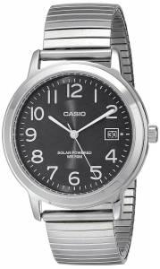 [カシオ]Casio 腕時計 EasyToRead Solar Stainless Steel Watch MTP-S100E-1BVCF メンズ [逆輸入]