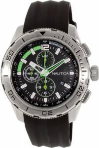[ノーティカ]Nautica 腕時計 NST 101 Chrono Silicone Black watch N18722G メンズ [並行輸入品]