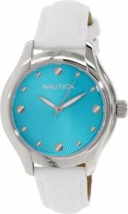 [ノーティカ]Nautica 腕時計 Silver Leather Quartz Watch N10509M レディース [並行輸入品]