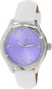 [ノーティカ]Nautica 腕時計 Silver Leather Quartz Watch N10507M レディース [並行輸入品]