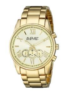 [オーガストシュタイナー]August Steiner 腕時計 Analog Display Japanese Quartz Gold Watch AS8163YG メンズ [並行輸入品]