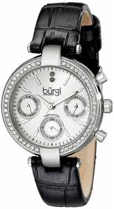 [バージ]Burgi 腕時計 Analog Display Swiss Quartz Black Watch BUR129SS レディース [並行輸入品]