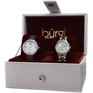 [バージ]Burgi 腕時計 Analog Display Swiss Quartz Watch Set BUR134SS レディース [並行輸入品]