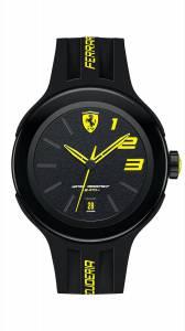 [フェラーリ]Ferrari 腕時計 Black Rubber Strap Watch 830221 メンズ [並行輸入品]