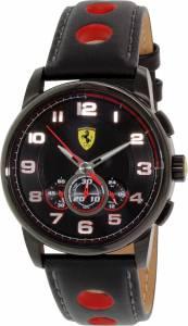 [フェラーリ]Ferrari 腕時計 Sf107 Black Leather Swiss Quartz Watch 0830059 メンズ [並行輸入品]