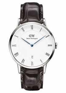 [ダニエル ウェリントン]Daniel Wellington 腕時計 Dapper York Silver 38mm Leather watch 1122DW ユニセックス [並行輸入品]