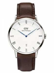 [ダニエル ウェリントン]Daniel Wellington 腕時計 Dapper Bristol Silver 38mm Leather watch 1123DW ユニセックス [並行輸入品]