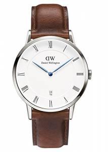 [ダニエル ウェリントン]Daniel Wellington 腕時計 Dapper St. Mawes Silver 38mm Leather watch 1120DW ユニセックス [並行輸入品]