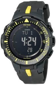 [カシオ]Casio Pro Trek Triple Sensor Tough Solar Digital Display Quartz Black Watch PRG-300-1A9CR