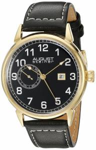 [オーガストシュタイナー]August Steiner 腕時計 Analog Display Swiss Quartz Black Watch AS8182YGB メンズ [並行輸入品]