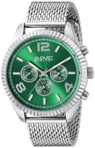 [オーガストシュタイナー]August Steiner Round Green Radiant Sunburst Dial Two AS8196GN