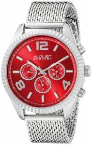 [オーガストシュタイナー]August Steiner Round Red Radiant Sunburst Dial Two Time AS8196RD