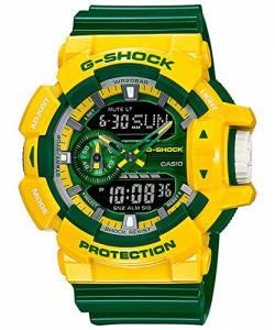 [カシオ]Casio GShock Crazy Colors Series Yellow Green Resin Shock Resistant Watch GA400CS-9A