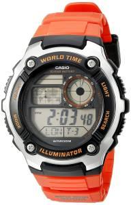 [カシオ]Casio 腕時計 Digital 10Year Battery Digital Display Quartz Orange Watch AE-2100W-4AVCF メンズ [逆輸入]
