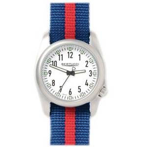 [ベルトゥッチ]bertucci 腕時計 Blue and Red Nylon Strap Band White Dial Watch 11057 [並行輸入品]