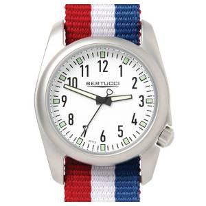 [ベルトゥッチ]bertucci 腕時計 DX3 Ventara Stainless Steel Field Nylon Strap White Dial Watch 11058 [並行輸入品]
