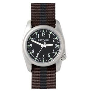 [ベルトゥッチ]bertucci 腕時計 Brown and Black Nylon Strap Band Black Dial Watch 11060 [並行輸入品]