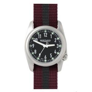 [ベルトゥッチ]bertucci 腕時計 Crimson and Black Nylon Strap Band Black Dial Watch 11061 [並行輸入品]