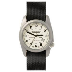 [ベルトゥッチ]bertucci 腕時計 Black Nylon Strap Band White Dial Watch 12086 [並行輸入品]