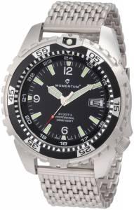 Momentum Men's 1M-DV06B0 M1 Deep 6 Black Bezel Stainless-Steel Dive Watch