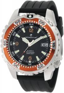 [モーメンタム]Momentum 腕時計 M1 Deep 6 Orange Bezel Black Ribbed Rubber Watch 1M-DV06O8B メンズ [並行輸入品]