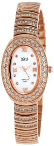 [バージ]Burgi 腕時計 Diamond Oval Quartz Bracelet Watch BUR070RG レディース [並行輸入品]