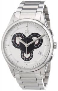 [カルバン クライン]Calvin Klein  Basic Analog Display Swiss Quartz Silver Watch K2A27185