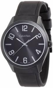 [カルバン クライン]Calvin Klein 腕時計 Color Black Silicone Watch K5E514B1