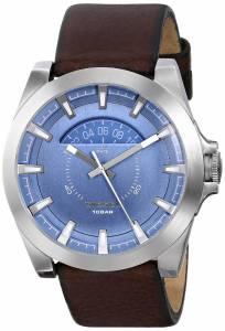 [ディーゼル]Diesel  Arges Stainless Steel Watch with Brown Leather Band DZ1661 メンズ