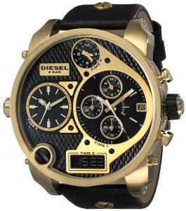 [ディーゼル]Diesel  Mr.Daddy Analog Display Analog Quartz Black Watch DZ7323 メンズ