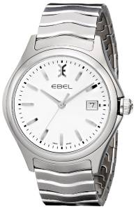 [エベル]EBEL 腕時計 Wave Analog Display Swiss Quartz Silver Watch 1216201 メンズ