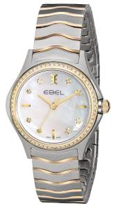 [エベル]EBEL  Wave Stainless Steel and 18k Gold TwoTone Bracelet Watch 1216198 レディース