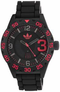 [アディダス]adidas Newburgh RedAccented Black Watch with Silicone Band ADH2965 ADH2965
