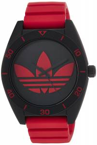 [アディダス]adidas 腕時計 Santiago Watch With Red Silicone Band ADH2969 ユニセックス