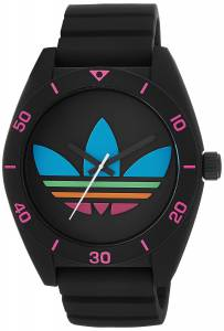 [アディダス]adidas Santiago Black Watch with Textured Silicone Band ADH2970 ADH2970