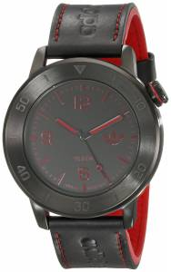 [アディダス]adidas Manchester Stainless Steel Watch With Black Leather Band ADH2973 ADH2973