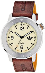 [アディダス]adidas Manchester Stainless Steel Watch With Brown Leather Band ADH2971 ADH2971