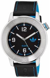 [アディダス]adidas Manchester Stainless Steel Watch With Black Leather Band ADH2972 ADH2972