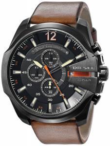 [ディーゼル]Diesel  Mega Chief Quartz Brown Watch with Analog Display DZ4343 メンズ