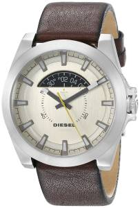 [ディーゼル]Diesel 腕時計 Arges Stainless Steel Watch with Leather Band DZ1690 メンズ