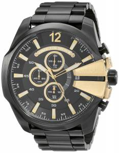 [ディーゼル]Diesel 腕時計 Chief Analog Display Analog Quartz Black Watch DZ4338 メンズ