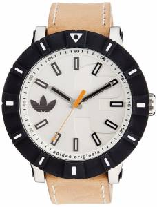 [アディダス]adidas  Amsterdam Stainless Steel Watch with Beige Leather Band ADH2999 メンズ