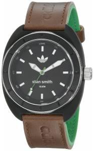[アディダス]adidas Stan Smith Black Watch with Brown and Green Leather Band ADH2957 ADH2957