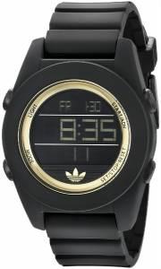 [アディダス]adidas  Calgary Digital Black Watch with Silicone Strap ADH2987 レディース