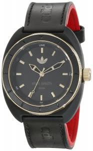 [アディダス]adidas Stan Smith Watch with Black and Red Leather Band ADH2959 ADH2959